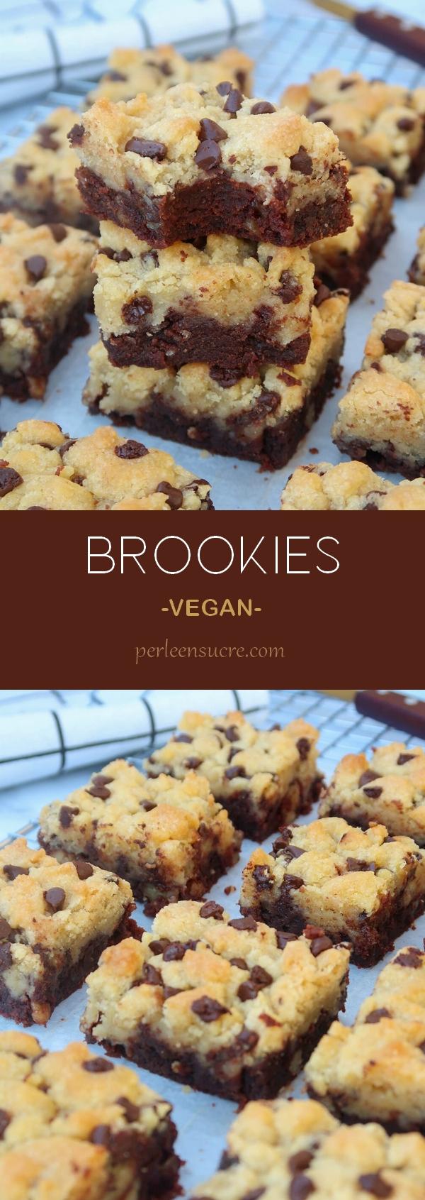Brookies sans oeufs sans lait {vegan}