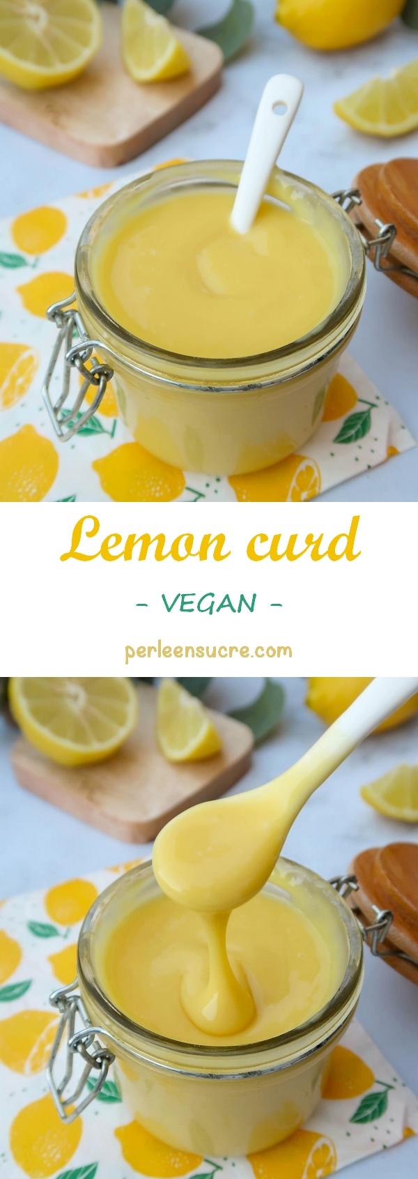 Lemon curd ou crème au citron {vegan}