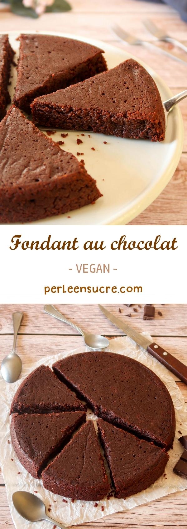 Fondant au chocolat vegan pinterest