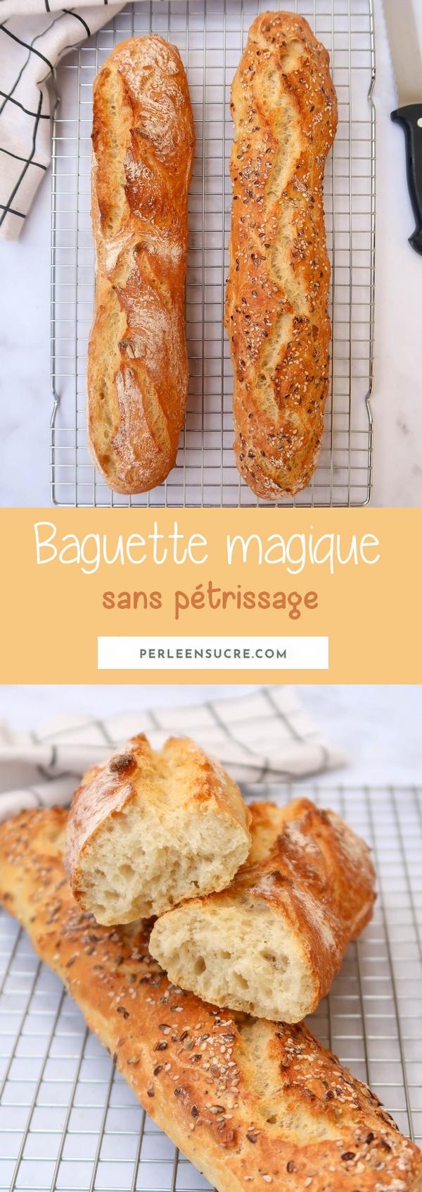 Baguette magique sans pétrissage