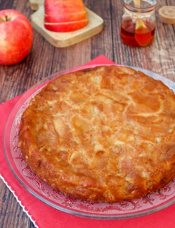 Gâteau invisible aux pommes {vegan}