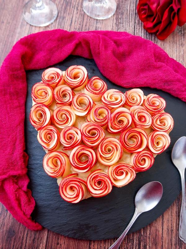 Tarte coeur aux pommes vegan {Saint-Valentin}