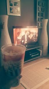 Also machte ich es mir mit Popcorn und Titanic (schon wieder!!) gemütlich...