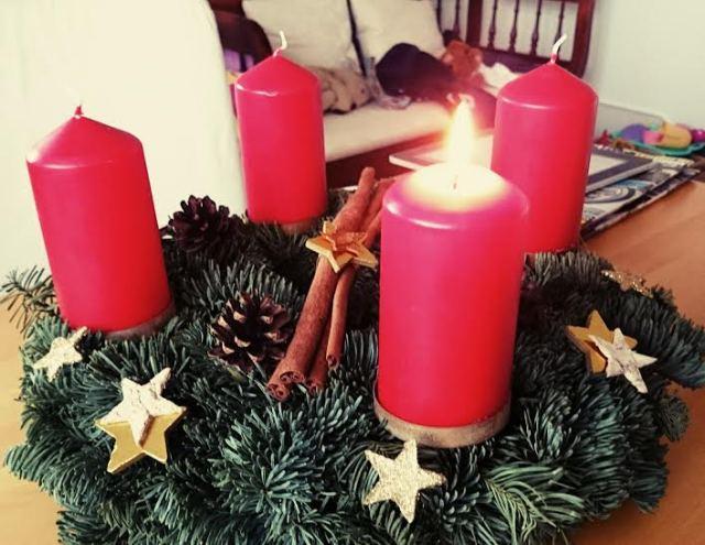 Advent Advent ein Lichtlein brennt...die erste Kerze angezündet.