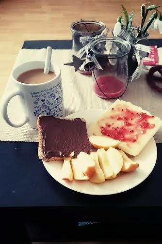 Dann gab es Frühstück.