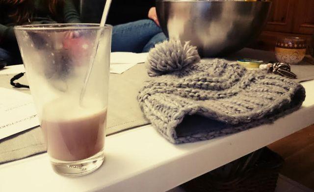Und weil ich so gefroren habe wurde ich mit heißer Schokolade versorgt.