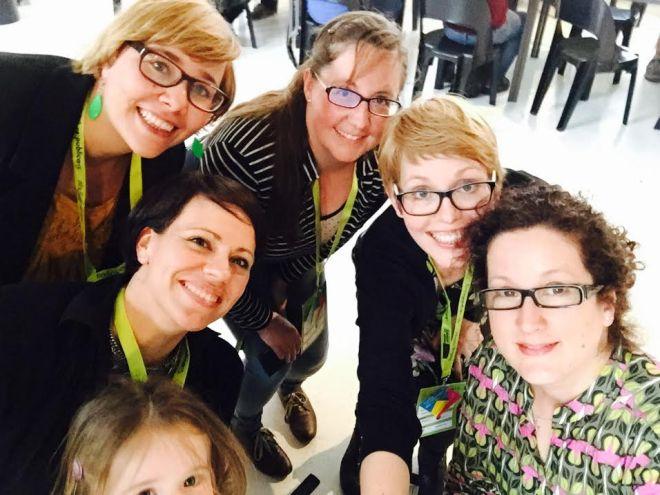 Konferenz-buddies Alu, meworkingmom, Mama Schulze, MamaNotes, die Perle und ich.