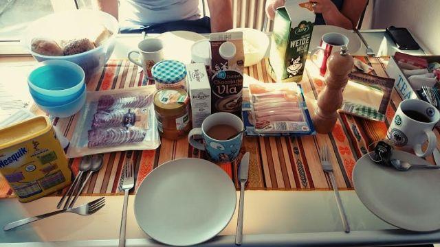 Der Samstag startete ganz gemütlich mit einem leckeren Frühstück.