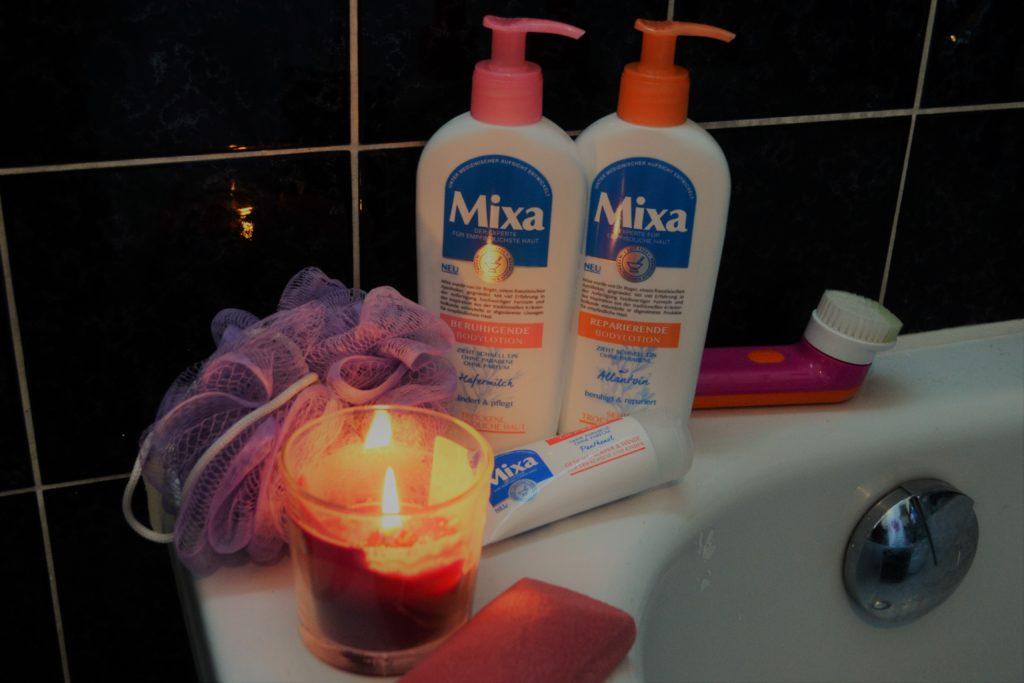 Mixa, Perlenmama, Hautpflege, trockene Haut