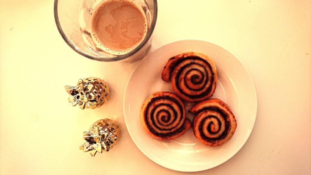 Wochenende in Bildern, WIB, Perlenmama, Frühstück, Nutellaschnecke, Ananas, Kaffee
