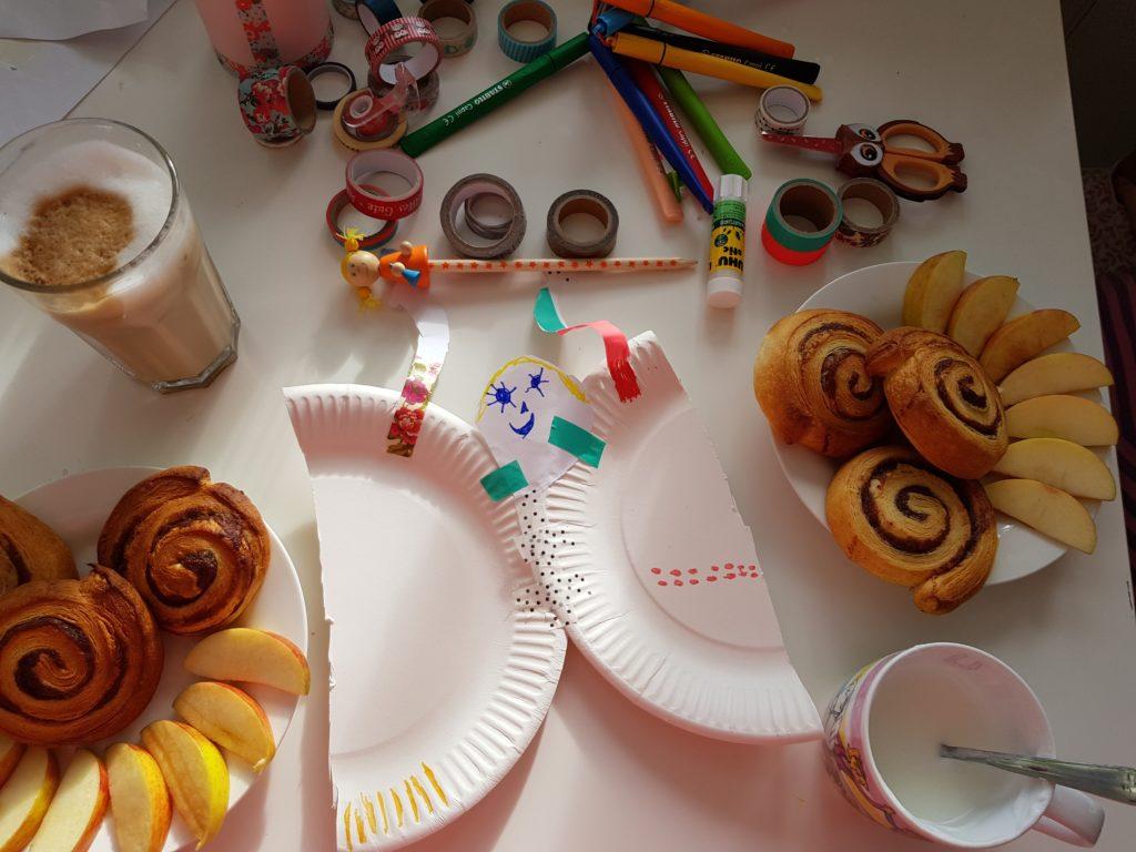 Wochenende in Bildern, Perlenmama, Frühstück, Schmetterling basteln, Perle