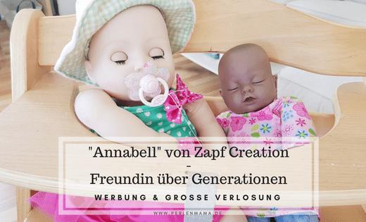 Perlenmama, Zapf Cretion, Annabell, Puppe, Werbung, Titelbild