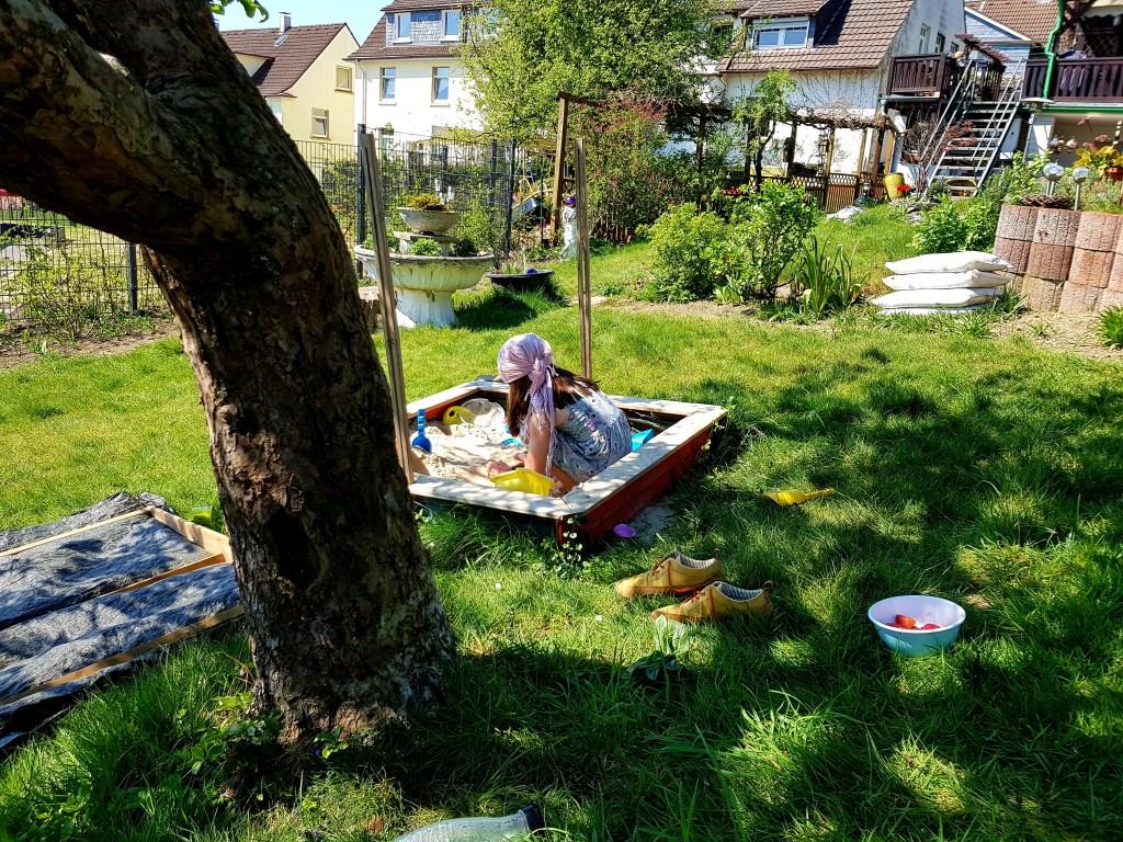 Perlenmama, Wochenende in Bildern, Ostern 2019, Garten, Sandkasten