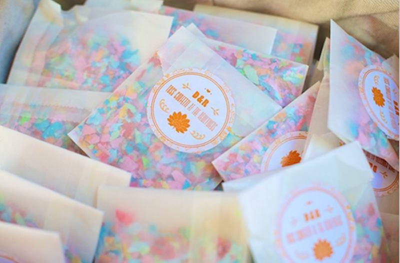 Les 10 ides de confettis pour votre sortie dglise