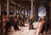 Le Tintoret - Christ et la femme adultère