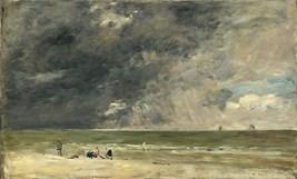 Eugene Boudin - Plage à Trouville 1890 (National Gallery London)