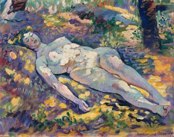 Henri-Edmond Cross - Dormeuse dans la clairière 1907