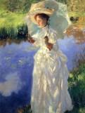 John Singer Sargent (américain 1856-1925)- Promenade matinale