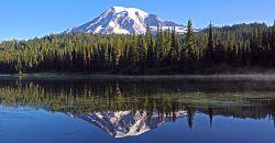 Krystaliczne krajobrazy i piękne głosy przyrody  góry Rainier
