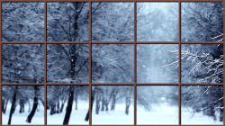 Remedium na upały!  Zima przez okno:)
