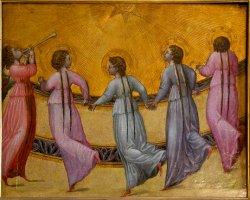 Giovanni di Paolo - Five dancing Angels. 1436