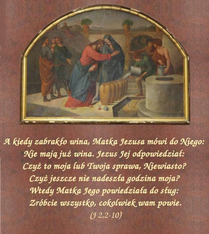 W Kanie Galilejskiej odbywało się wesele i była tam Matka Jezusa