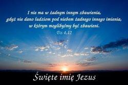 Święte imię Jezus!