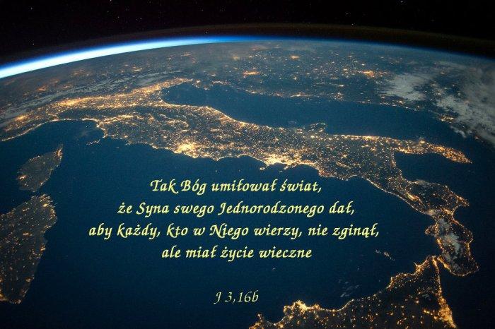 Albowiem Bóg nie posłał swego Syna na świat po to, aby świat potępił