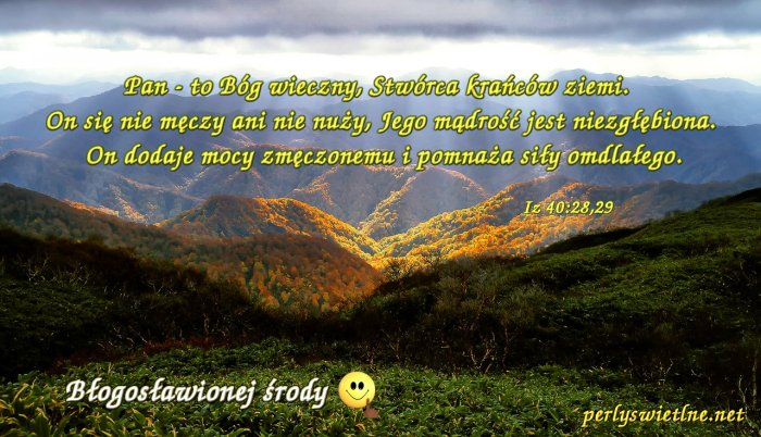 Pan, to Bóg wieczny, Stwórca krańców Ziemi.