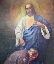 """""""Pielgrzym u stóp Chrystusa"""" – obraz Piotra Stachiewicza"""