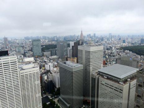 Tokio-panorama miasta z 45 piętra tarasu widokowego