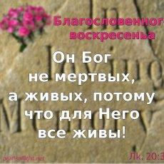 Он Бог не мертвых, а живых, потому что для Него все живы!