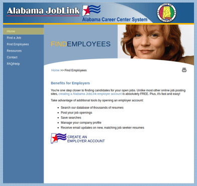 Alabama State Workforce Authority SWA Job Order