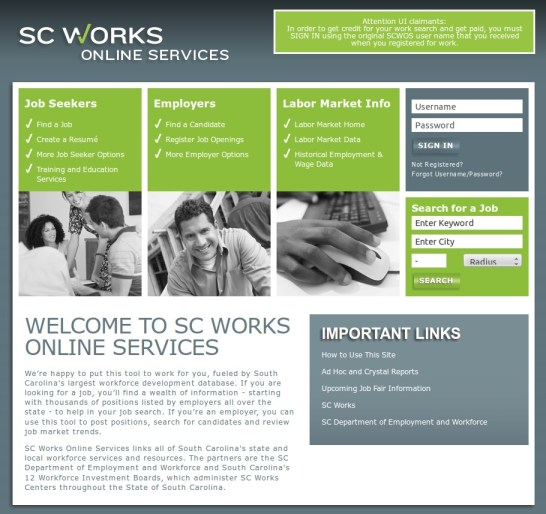 South-Carolina-SWA-SC-Works-Online-VOSNET