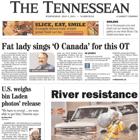 PERM Advertising The Tennessean