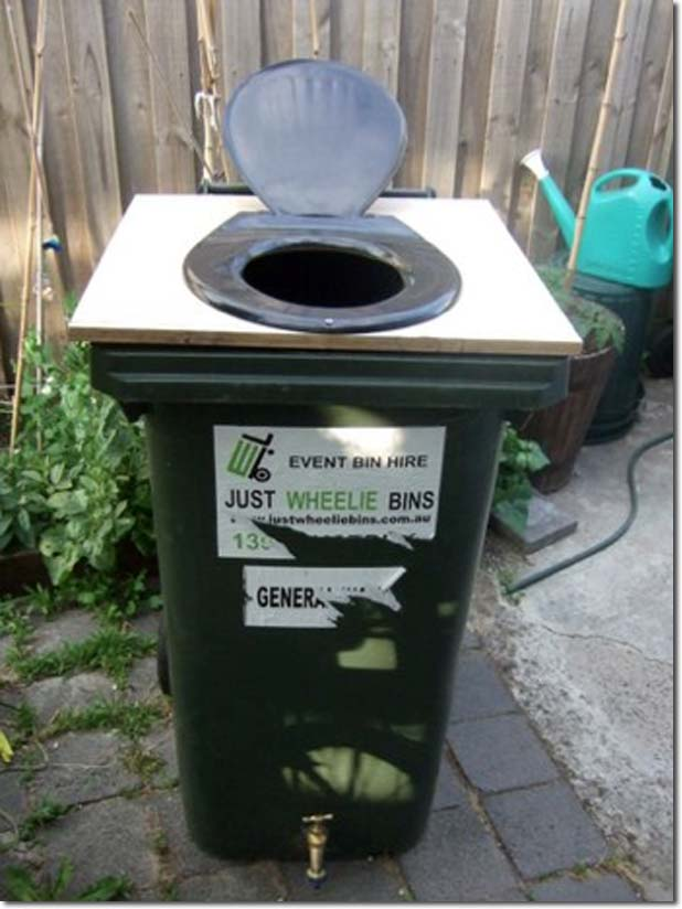 Composting Toilets Made From Wheelie Bins