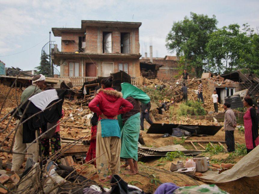 Verwüstung im Dorf Rani Patati