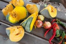 Pumpkin, pomegranate, chilli