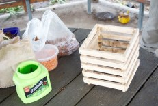 Hot compost frame model