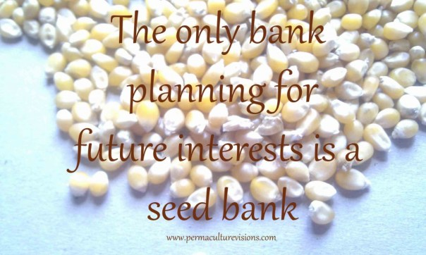 The only bank planning for future interests in a seed bank