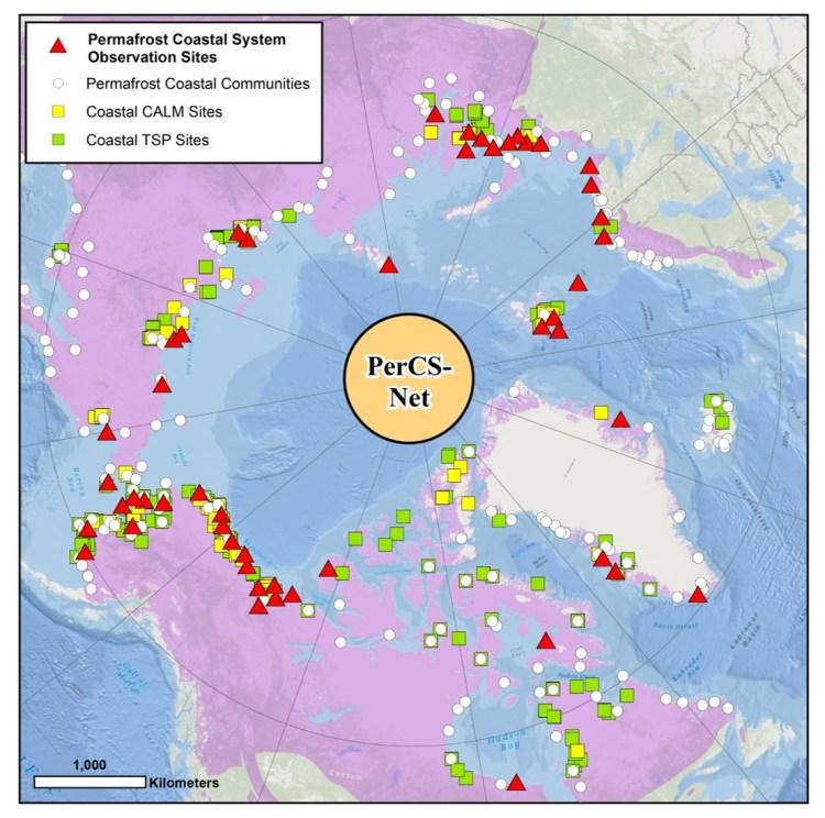 Permafrost Coastal System Observations Sites