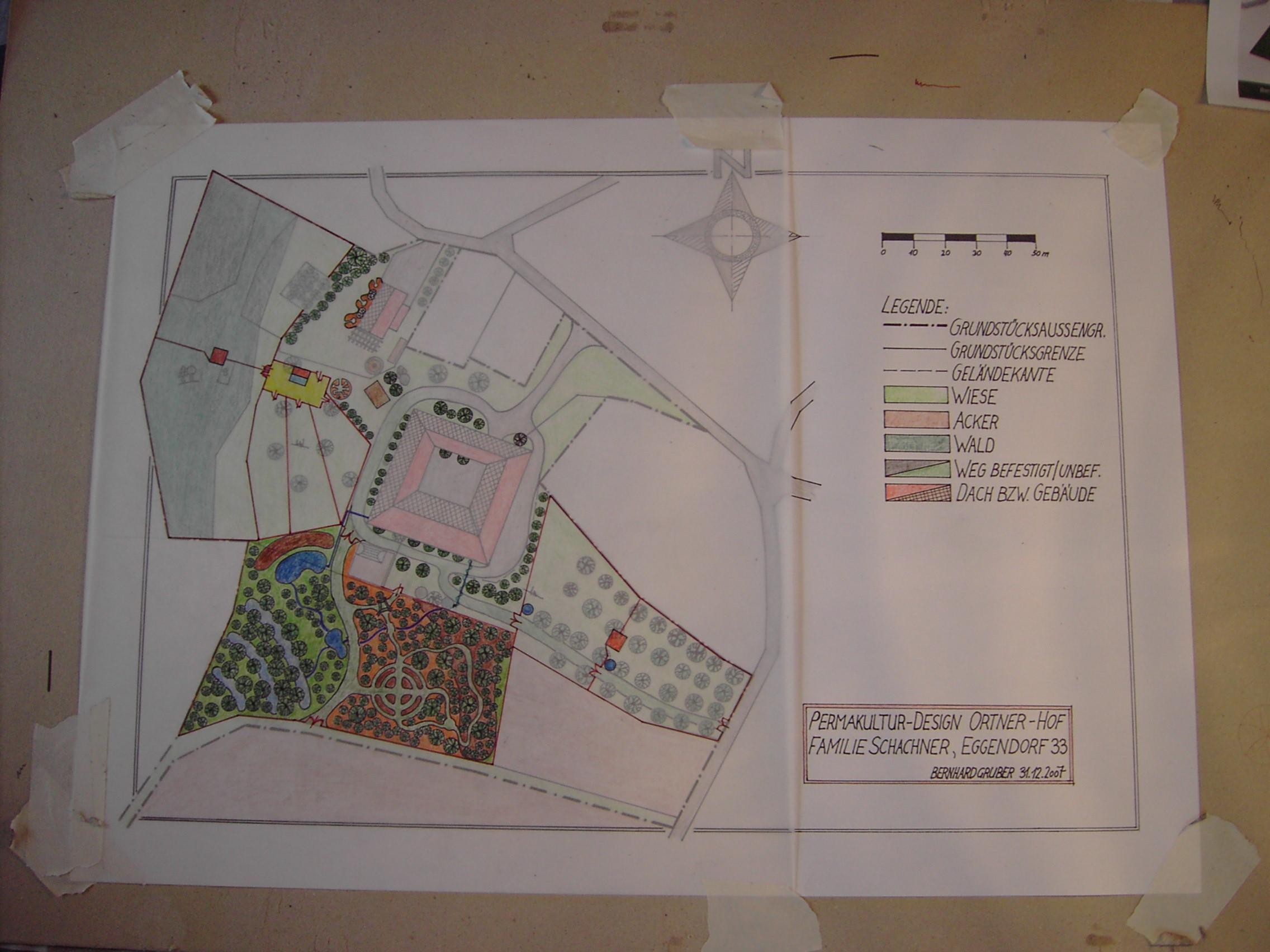 Permakultur-Design einer 2 ha Landwirtschaft