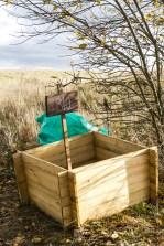 Oczywiście wszelkie odpady organiczne w BioDomku są kompostowane, po dwóch latach będą używane jako super żyzna gleba na grządki.