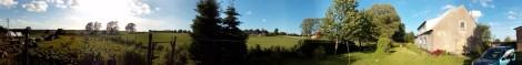 """A to panorama naszego gospodarstwa """"na górce""""."""