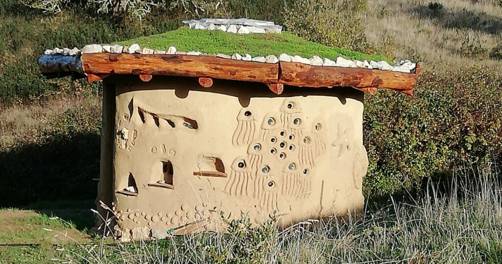 a natural building from a natural building workshop