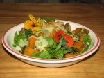 Dinner: a roast vegetable salad