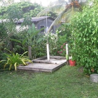 Private garden greywater system in Vanuatu