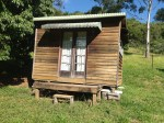 Students can book to use this comfortable cabin when they do a course at the Permaculture Research Institute Sunshine Coast.