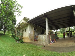 Temporary sleeping quarters for volunteers or Permaculture Research Institute Luganville