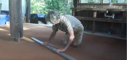 Tom Kendall works his earthen floor, PRI Sunshine Coast